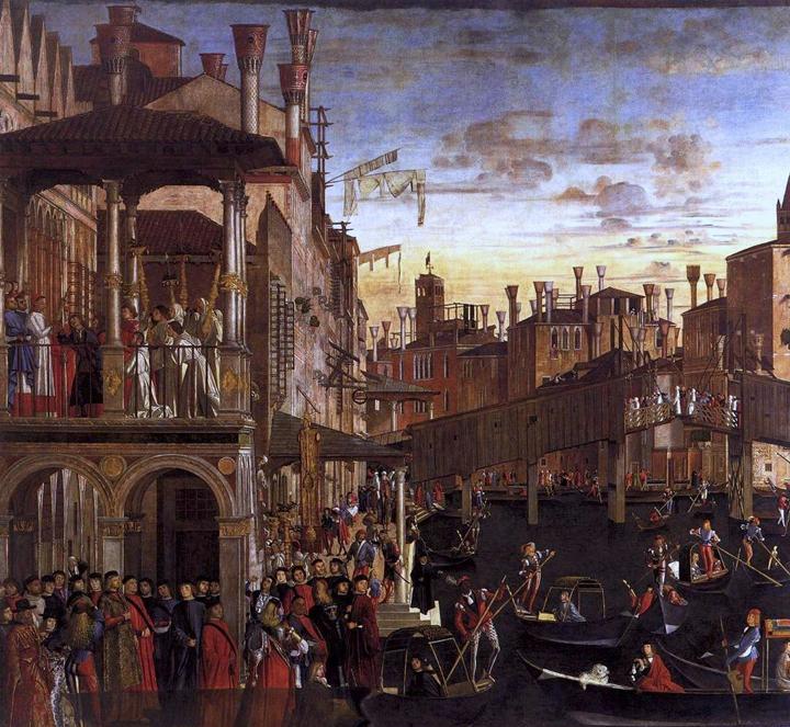 Rialto bridge, Vittore Carpaccio, Accademia Galleries, Venice