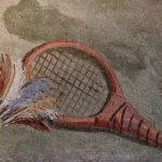 Giandomenico Tiepolo, The departure of Punchinello, Ca' Rezzonico, Venice, ca. 1793. Detail of the racket and shuttlecock