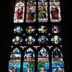 Stained glass windows in Venice and Murano